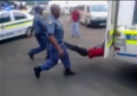 South Africa Man Dragged