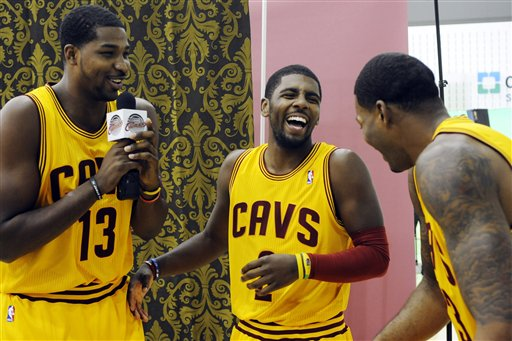 Tristan Thompson, Kyrie Irving, Alonzo Gee