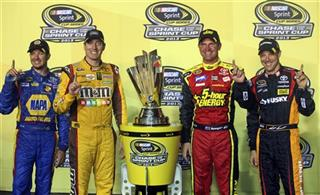 Martin Truex, Jr., Kyle Busch, Clint Bowyer, Matt Kenseth.
