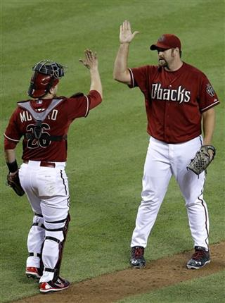 Heath Bell, Miguel Montero