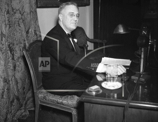 Watchf Associated Press Domestic News  Dist. of Col United States APHS197320 Franklin D. Roosevelt