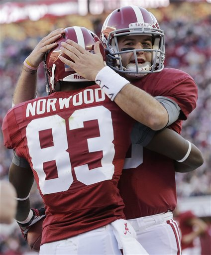 AJ McCarron, Kevin Norwood