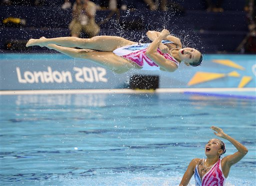 APTOPIX London Olympics Synchronized Swimming