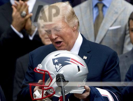 Trump Patriots Football