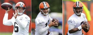 Browns QB Battle Football