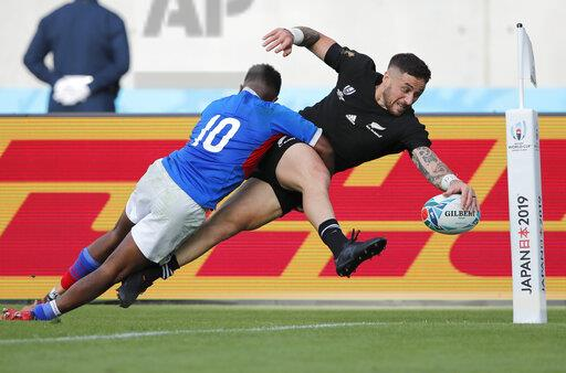 APTOPIX Japan Rugby WCup New Zealand Namibia
