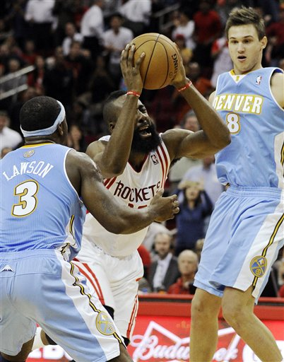 James Harden, Danilo Gallinari, Ty Lawson