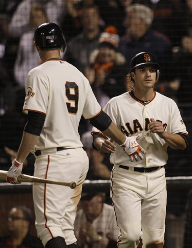 Ryan Theriot, Brandon Belt