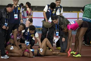 Carmelita Jeter, Aleen Bailey, Blessing Okagbare