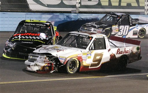 Johnny Sauter, Ron Hornaday, Jr., Nelson Piquet, Jr.