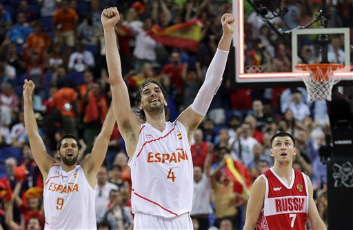 Vitaliy Fridzon, Pau Gasol, Felipe Reyes