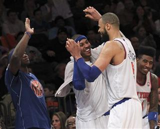 Ronnie Brewer, Carmelo Anthony, Tyson Chandler,  Iman Shumpert