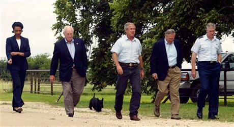 George W. Bush, Dick Cheney, Condoleezza Rice, Donald Rumsfeld, Richard Myers