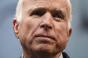 FILE - In this Oct. 16, 2017, file photo, Sen. John McCain, R-Ariz., speaks after he received the Liberty Medal from the National Constitution Center in Philadelphia. McCain's body lies in state Wednesday, Aug. 29, 2018, at the Capitol in Arizona, his home state. (AP Photo/Matt Rourke, File)