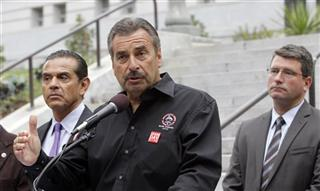 Charlie Beck, Tim Delaney, Antonio Villaraigosa