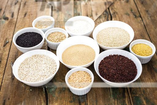 Cereal mix: black rice, red rice, barley, amaranth, quinoa, rice, bulgur, oats and buckwheat