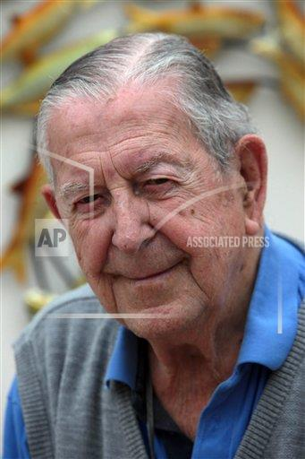 REX AP     3875720b Dr Clifford Brewer, who is the last surviving surgeon of the D-Day landings, Britain - 03 Jun 2014