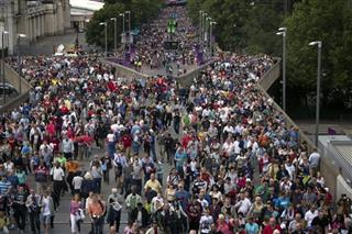 London Olympics Soccer Men Crowds