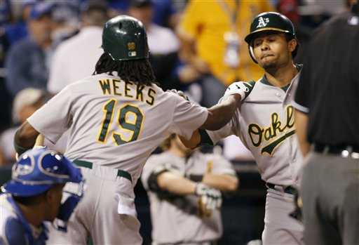 Coco Crisp, Jemile Weeks replay