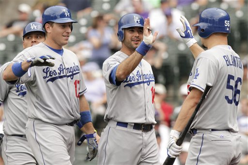 A.J. Ellis, Andre Ethier, Joe Blanton