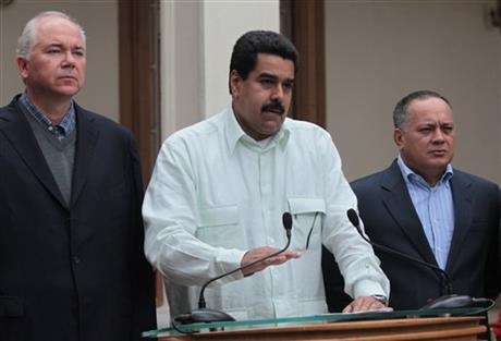 Nicolas Maduro, Rafael Ramirez, Diosdado Cabello