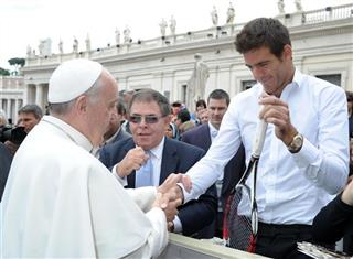 Pope Francis, Juan Martin del Potro