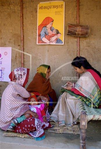 Creative Robert Harding Productions /AP Images A   India 1161-811 Women at Family Planning birth control clinic in Agra, India