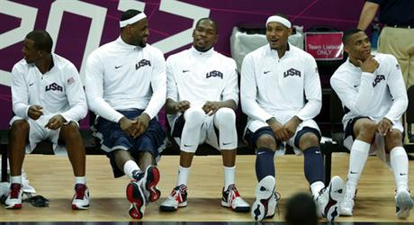 Chris Paul, Labron James, Kevin Durant, Carmelo Anthony, Russell Westbrook