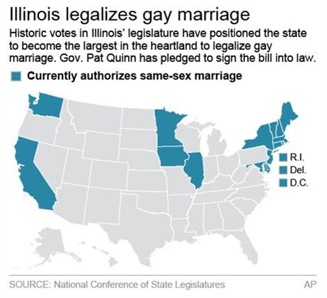 Is gay marriage legal in illinois