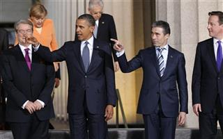 Barack Obama, Anders Fogh Rasmussen, Bamir Topi, David Cameron