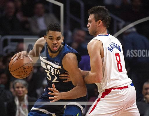 Timberwolves Clippers Basketball