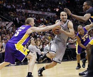 Manu Ginobili, Steve Blake, Dwight Howard