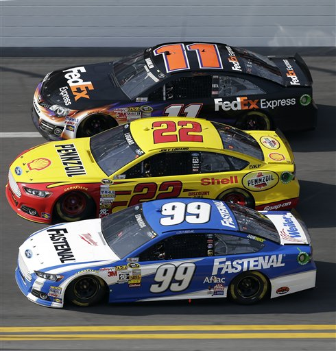 Carl Edwards, Joey Logano, Denny Hamlin