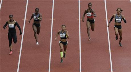Carmelita Jeter, Allyson Felix, Jeneba Tarmoh, Tianna Madison, Sanya Richards-Ross