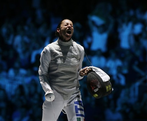 APTOPIX London Olympics Womens Fencing