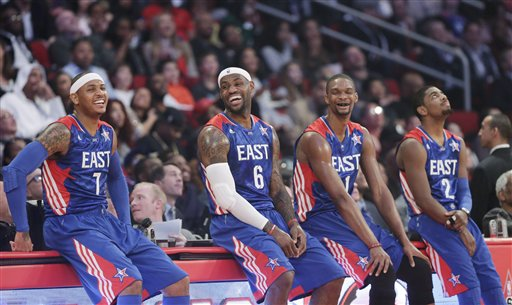 Carmelo Anthony, LeBron James, Chris Bosh, Kyrie Irving