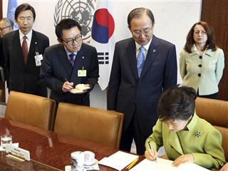 Yoon Chang-jung, Park Geun-hye, Ban Ki-moon
