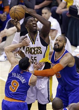 Pablo Prigioni, Roy Hibbert, Tyson Chandler
