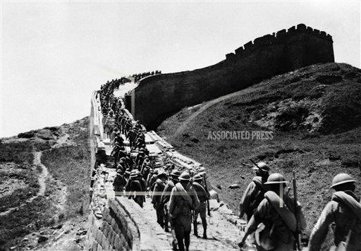 Watchf AP I   CHN APHSL48932 China Chinese Troops Marchon Great Walll