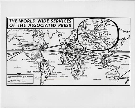 Watchf AP A    APHSCA170 The World Wide Services of The Associated Press, 1971