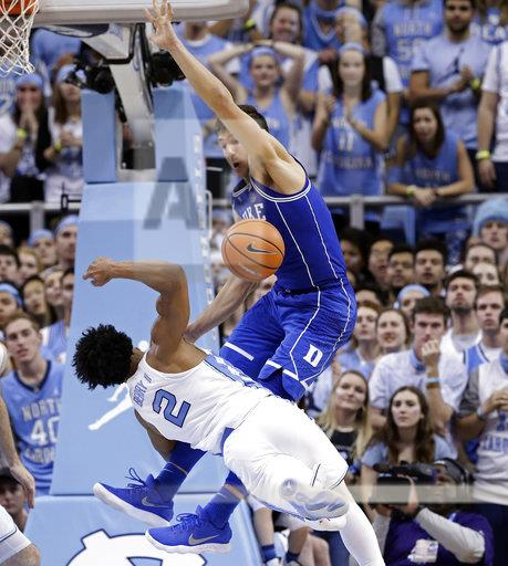 APTOPIX Duke North Carolina Basketball