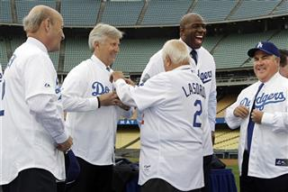 Stan Kasten, Mark Walter, Tommy Lasorda , Magic Johnson,  Robert Patton
