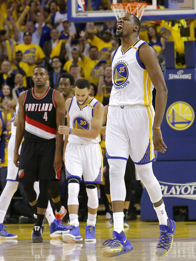 Kevin Durant won't play for Warriors in Game 2 of playoffs