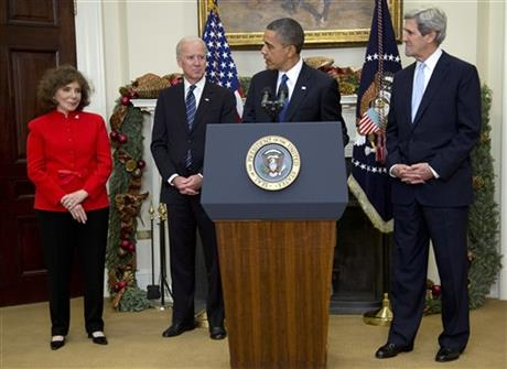 Barack Obama, John Kerry, Joe Biden, Teresa Heinz Kerry