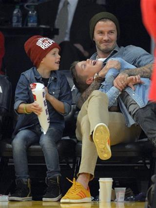 David Beckham, Romeo Beckham, Cruz Beckham