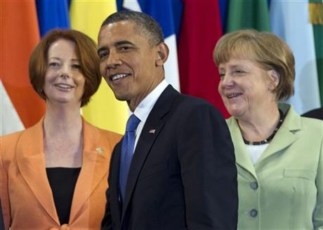 Barack Obama, Angela Merkel, Julia Gillard