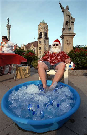 Summer Heat Wave Santa