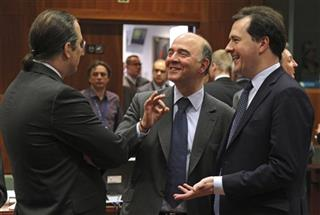 Pierre Moscovici, Anders Borg, George Osborne