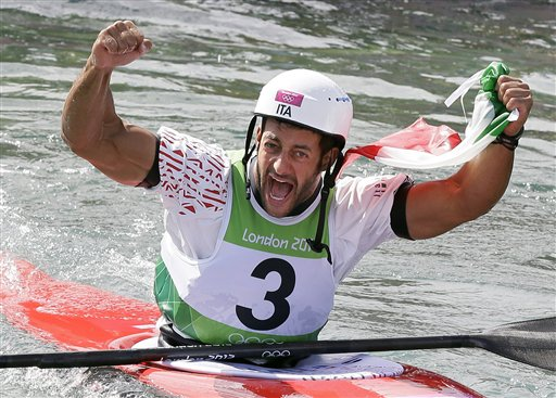 APTOPIX London Olympics Kayak Slalom Men