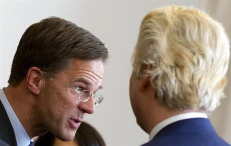 Geert Wilders, Mark Rutte